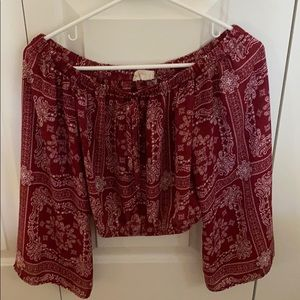 Altar'd State cropped blouse